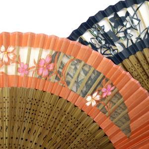 婦人用扇子2020・2種|羽二重絹扇子、桜、桔梗、母の日ギフト、海外ギフトにもおすすめ|京扇子