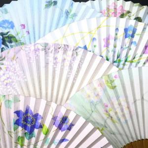 婦人用扇子2020・6種|ふわっとした優しい印象の雲竜紙を地紙に使用したちょっと贅沢な京扇子。