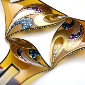 結婚披露宴、パーティーなど華やかな機会にお勧めな、美しいべっ甲螺鈿金蒔絵かんざし・3種《再》★貴