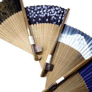紳士用扇子2021・4種|涼しげな京扇子、短地扇子、父の日ギフト、風神雷神、紙吹雪、富士山、青海