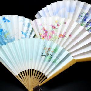 漆喰扇子|婦人用2021-2|猫、金魚、季節の花、抗ウイルス・抗菌・消臭機能付地紙使用の京扇子。