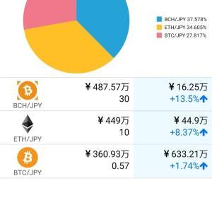 仮想通貨4日で%2B90万