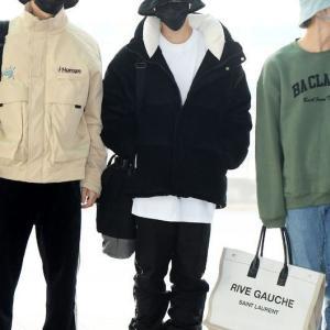 空港ファッションでseventeenホシやウォヌが着用していたアウター^^