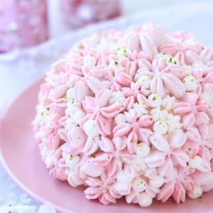 桜あんとパウダーで作る♪桜色グラデがかわいいドームケーキ