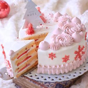 苺づくしのクリスマスケーキ