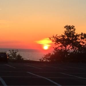 砂丘の夕日