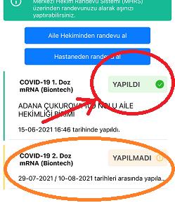 ワクチン第1回目接種トルコで無事に終了