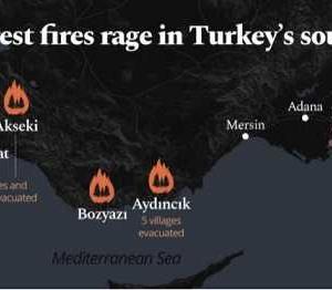 トルコ南部の山火事…まだ続いています