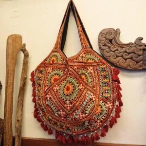 India☆ミラー刺繍バッグ
