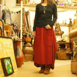 ダブルガーゼのかわいいスカート♪