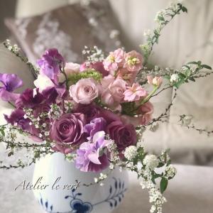 レッスンレポ 伝統的なフランスクラッシックスタイルの花