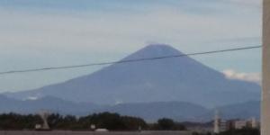 台風通過後にベランダより眺めた富士山(9月9日)