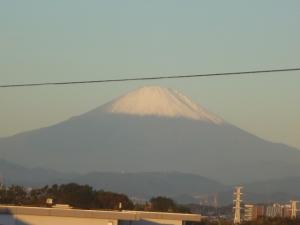 富士山に冠雪が・・・🗻