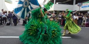 パレードのサンバに笑顔と元気をもらったよ!(*^-^*)