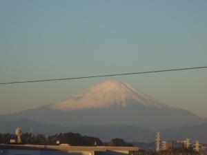 今朝(11月12日)のベランダ富士山