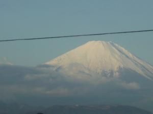 令和元年師走の「ベランダ富士山」