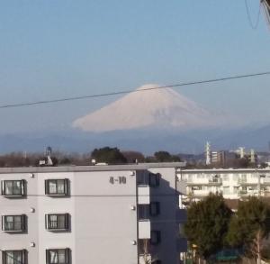 睦月25日のベランダ富士山