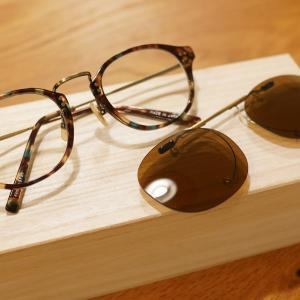 意匠性の高い『金子眼鏡』でクリップオンサングラスを購入。