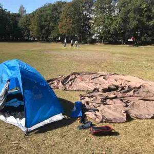 テントの修理