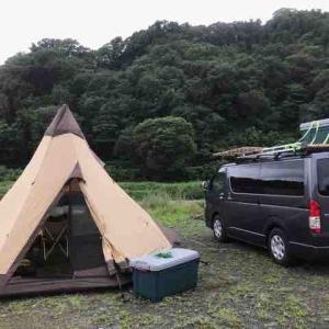 冷凍庫の耐久試験キャンプ IN 田代運動公園
