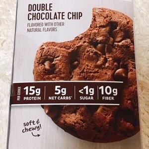クッキーが食べたくなったら!チョコチップのザクザク食感がたまらない~糖1ℊのチョコチッププロテインクッキー♪⇒
