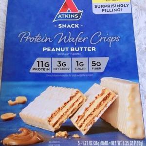 みーたん御用達♪アトキンスのプロテインバーの新作★Atkins, プロテインウェイハークリスプ、ピーナッツバター,レモンバニラ