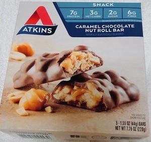 【本当に美味しい】【太らない】【アトキンスバー】もう何度もリピしているお勧めのプロテインバー♪ダイエット・減量バー♪Atkins, キャラメルチョコレートナッツロールバー