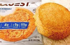 シナモンシュガー♪味のプロテインクッキー!!【スニッカードゥードゥル 】Quest Nutrition, Protein Cookie, Snickerdoodle, 12 Cookies