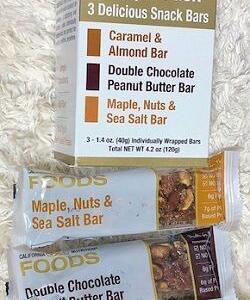 また買いましたもうこればっかり♡iHerbのプロテインバーを色々食べた結果⇒これに行き着きました♪California Gold Nutrition, Sample Snack Bar Pack, 3 Bars