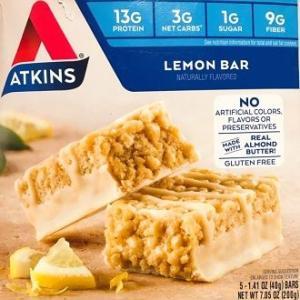 まるで濃厚なチーズケーキ^^美味しすぎる!♪【糖質3g】プロテインバーのアトキンスバーAtkins, レモンバー!!