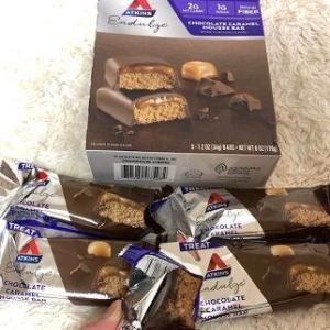 美味しくて糖質2g★安心して食べれるし美味しくてやみつきなんですよお。これ♪Atkins,チョコレートキャラメルムースバー