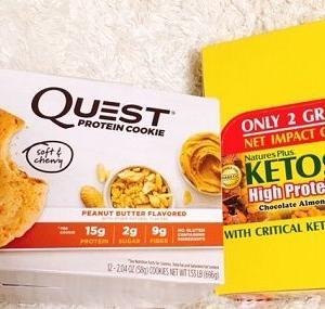 【アイハーブ購入品】糖質がほぼないチョコアーモンドプロテインバー♪ Nature's Plus, Ketoslim、ハイ・プロテイン・バー、チョコレート・アーモンド・クランチ、バー