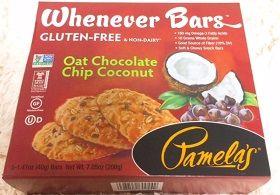 【グルテンフリー】【砂糖不使用】素晴らしい健康スナック!Pamela's Products, Whenever Bars、オートミールチョコレートチップココナッツ