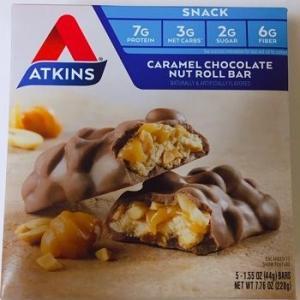 とにかく美味しい!Atkins, キャラメルチョコレートナッツロールバー