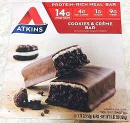 【iHerb】アトキンスバー届きました!【糖質4g】オレオとかブラックサンダーみたい♪美味しい!Atkins, ミールバー、クッキーアンドクリームバー