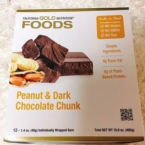 リピ!【iHerb】プロテインバー♪California Gold Nutrition, Foods、ピーナッツ&ダークチョコレートチャンク