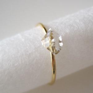 新作:ダイヤモンドクォーツの原石リング/Pakistan/Diamond Quartz 14kgf 11号
