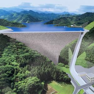 ダムの建設現場です!! こちらにキャンプ場が計画されているという噂の真相を探って来ました!!