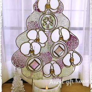 グラスアートのクリスマスツリー♪ みなさんの作品♪ 一人カラオケ♪