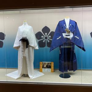 恵那市明智町/大河ドラマ館・明智光秀と妻熙子の婚礼衣装