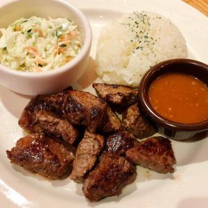 アウトバック ステーキハウス でステーキ&ラム肉プレートランチ♪