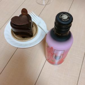 【バレンタイン】ヴィタ メール のチョコレートケーキとスパークリングワイン