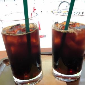 相方さんとカフェ・ベローチェでアイスコーヒー休憩