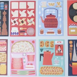 北欧イラストデザインがかわいい『Kehvola(ケフボラ) ポストカード』