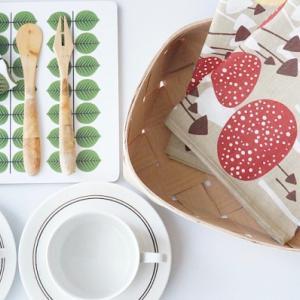 『北欧雑貨』かご、キッチンタオル、カッティングボード、北欧ヴィンテージ食器