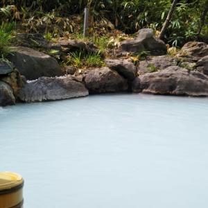 暑くて山奥の風呂へ
