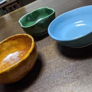 陶芸教室で作ったお皿が届きました!