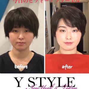 今日のビフォ-アフター美女~七変化ヘアスタイル診断