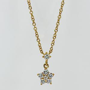 K18YG製ダイアモンドネックレス