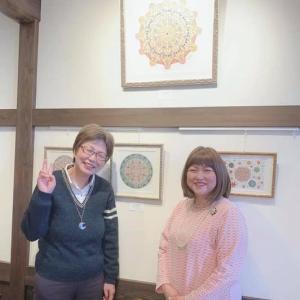 一昨日は平蔵さんでの個展7日目でした〜❤️